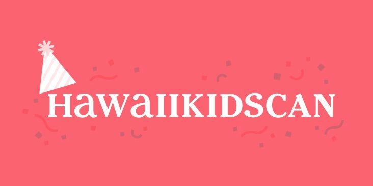 Hawaiikidscan bday logo