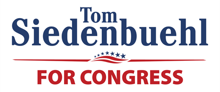 Tom siedenbuehl for congress label