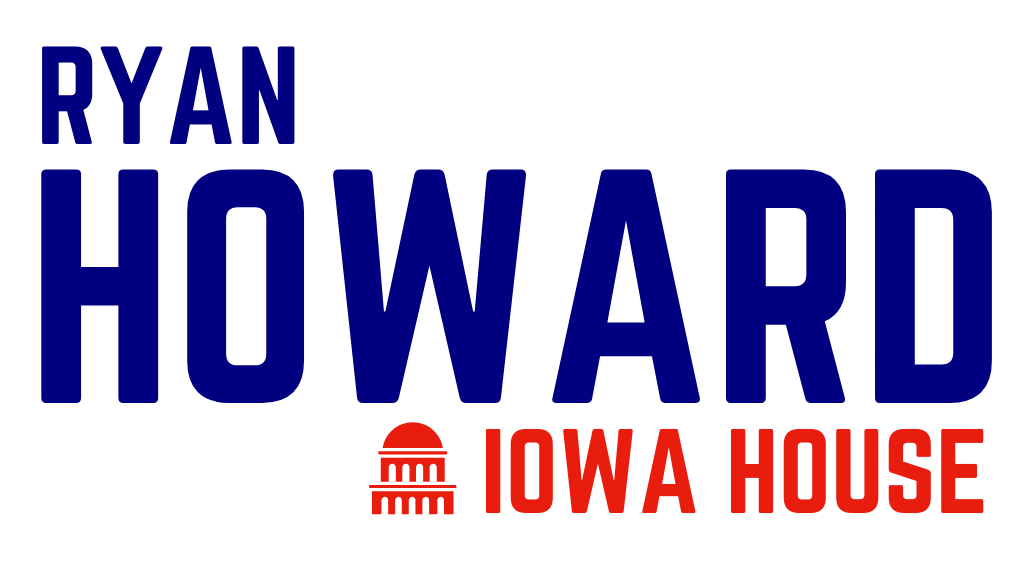 White logo ryan howard for iowa house small