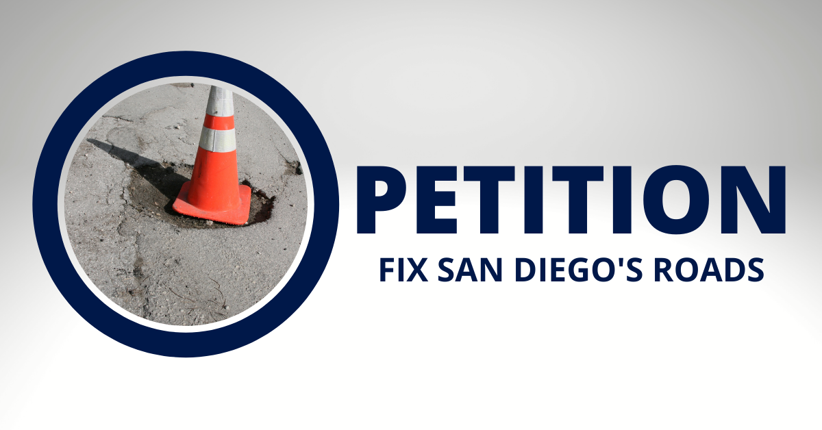 Petition  fix san diego's roads