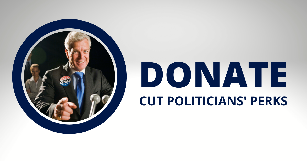 Donate  cut politicians' perks