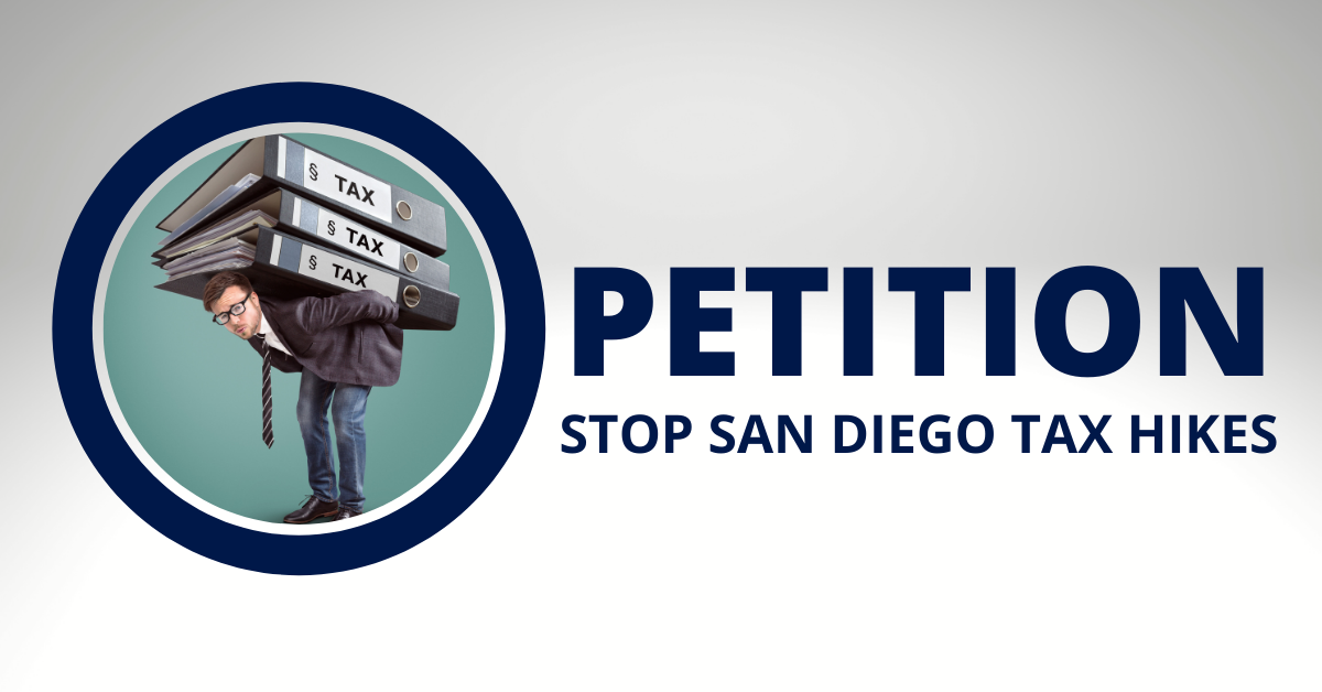 Petition  stop  san diego tax hikes