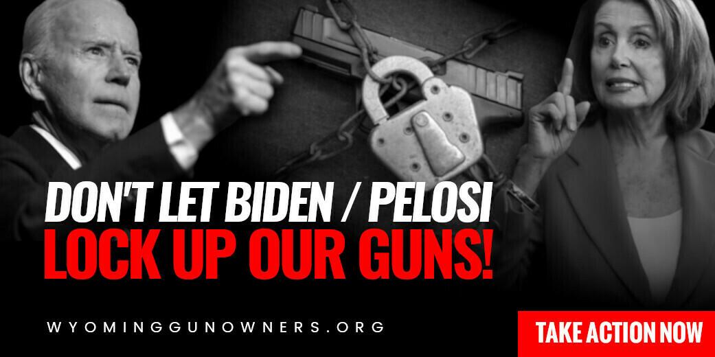 Lock up guns revv logo wygo