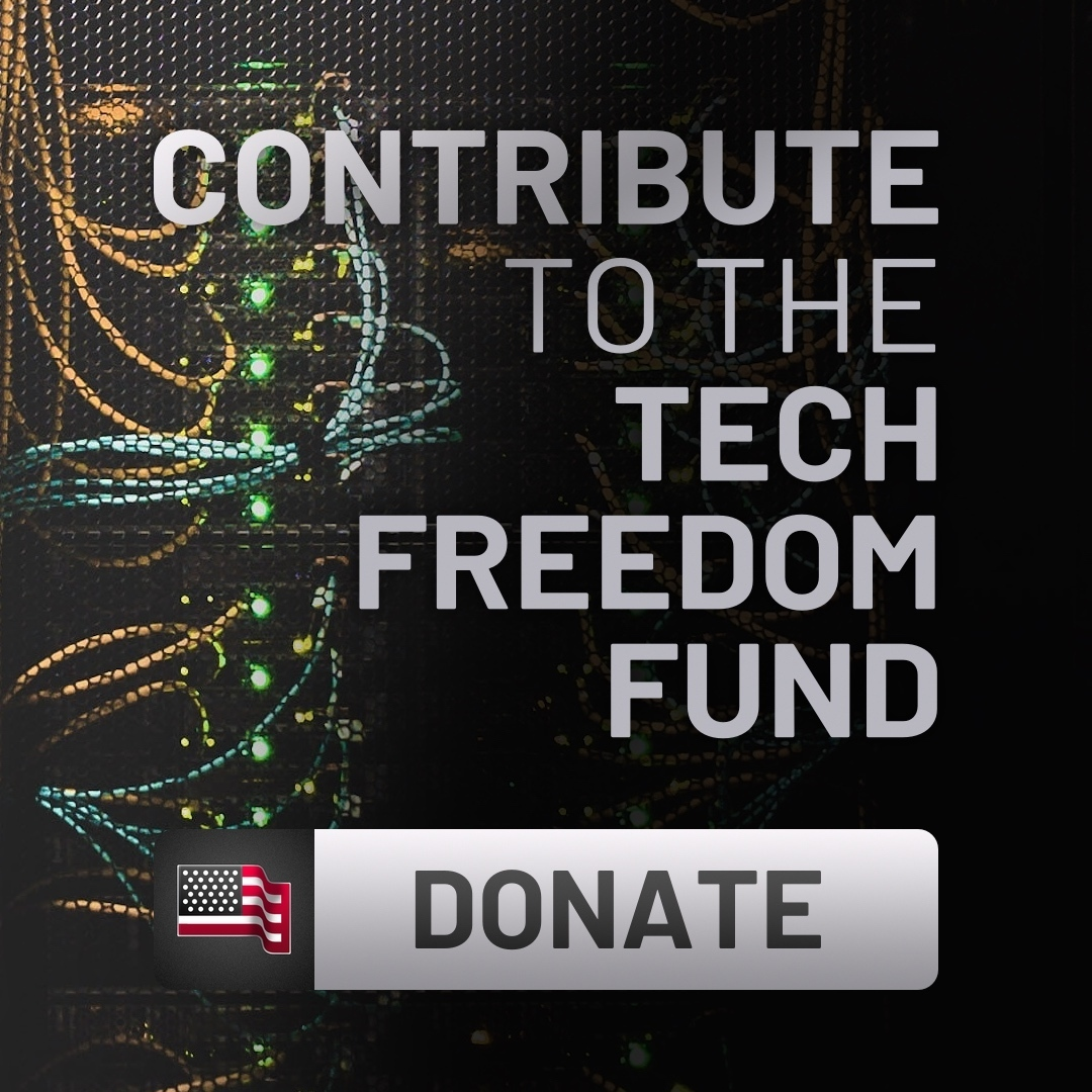 Tech freedom button