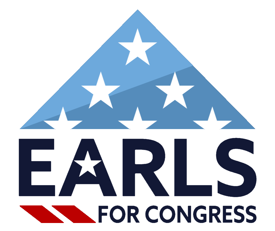 Earls for congress logo inverted background