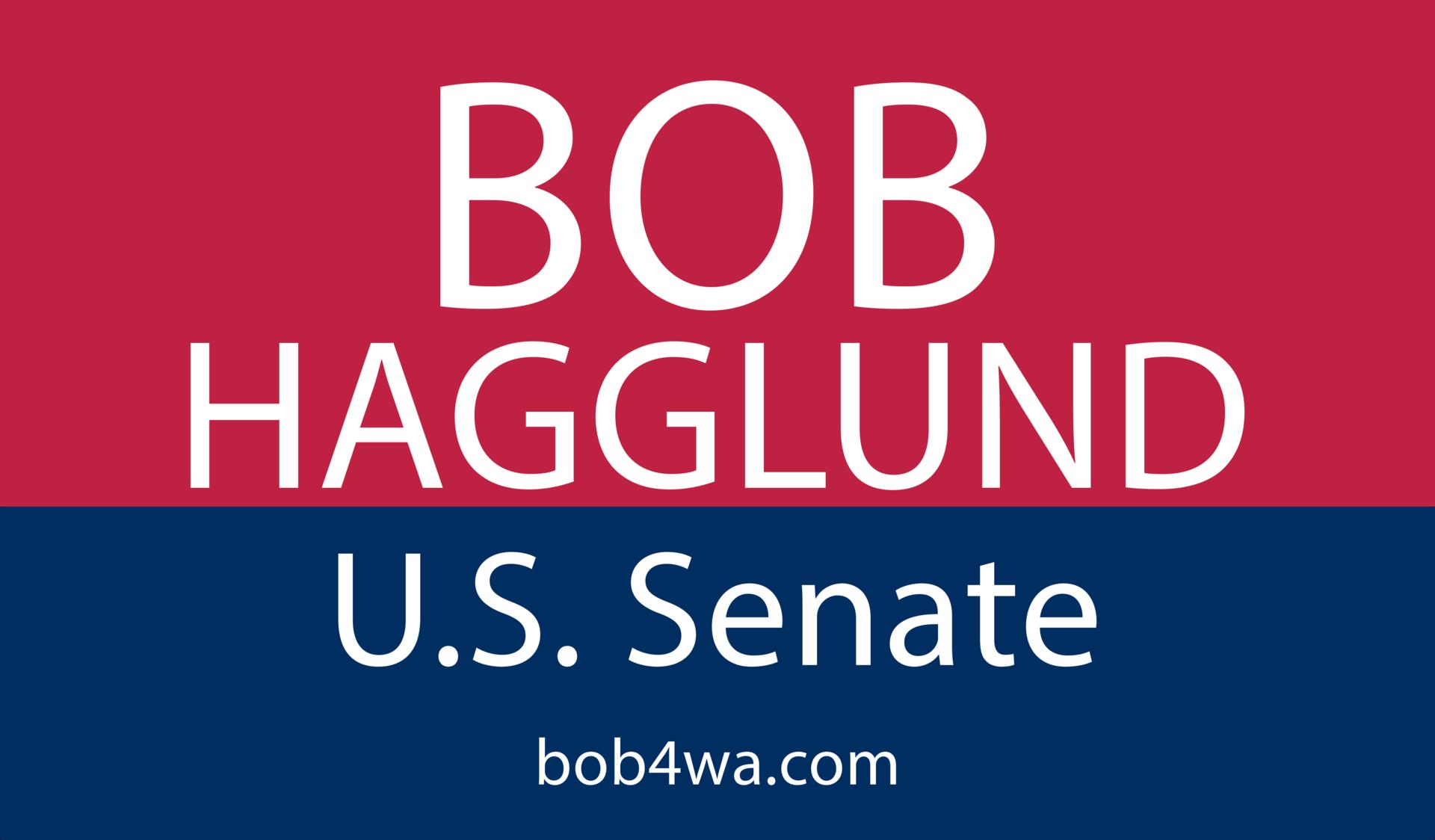 Bob hagglund u.s. senate 2022 business card front