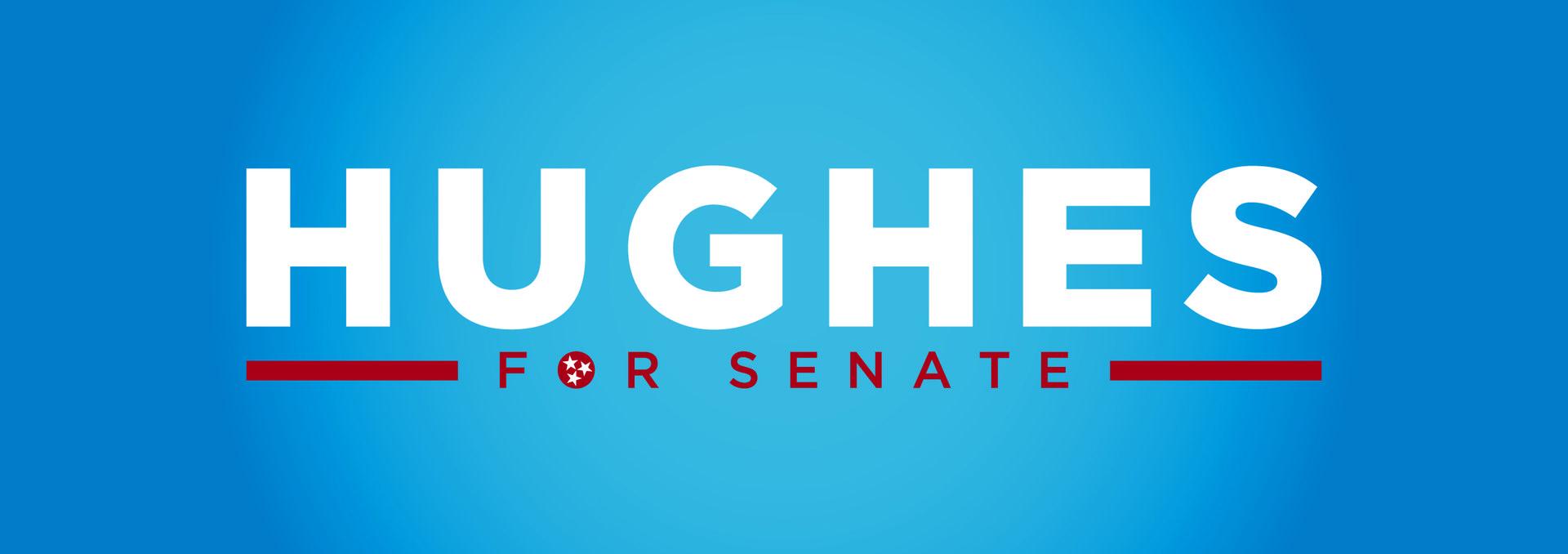 Hughes logo blue backgound 01