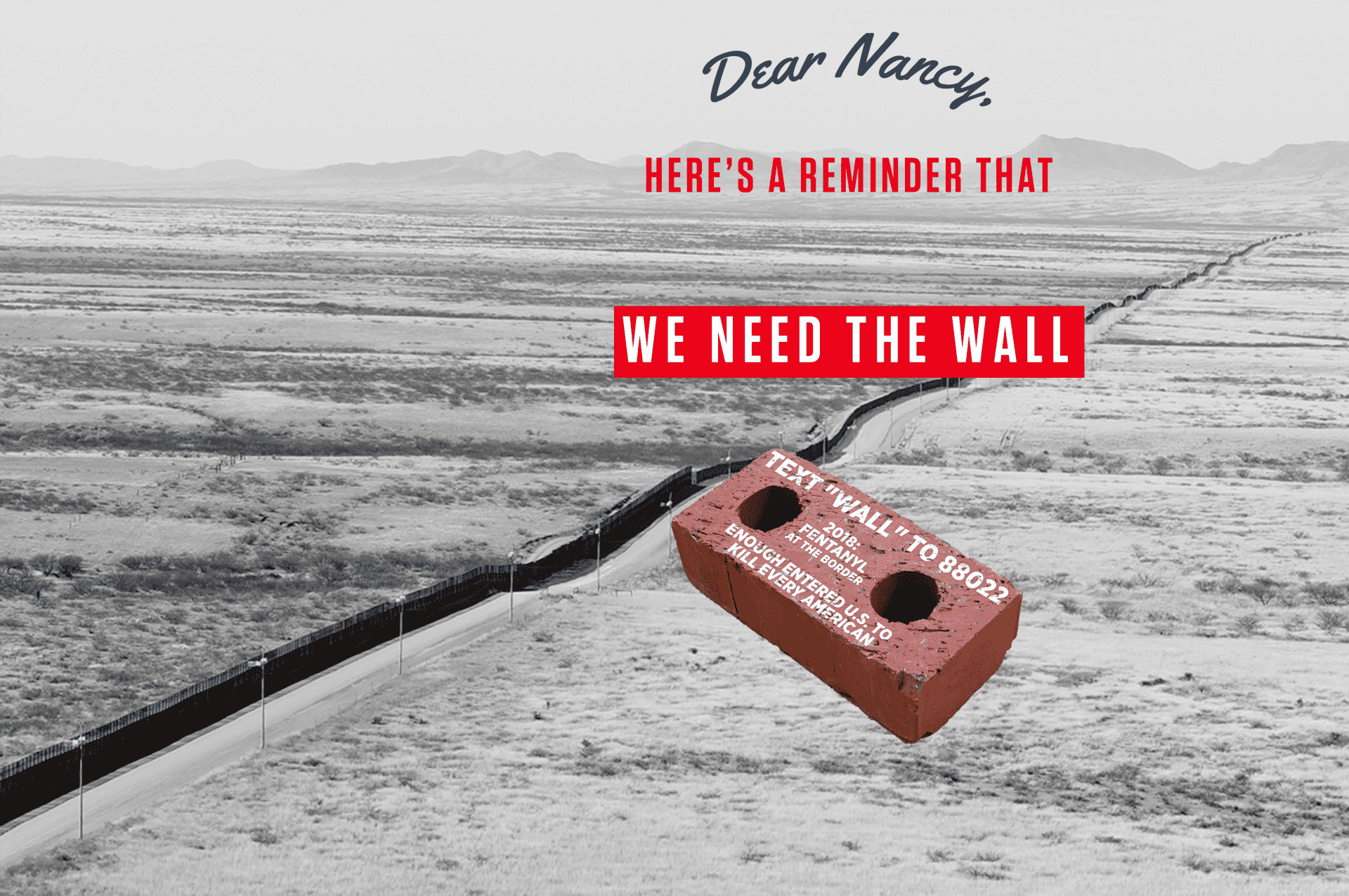 We need the wall dear nancy revv