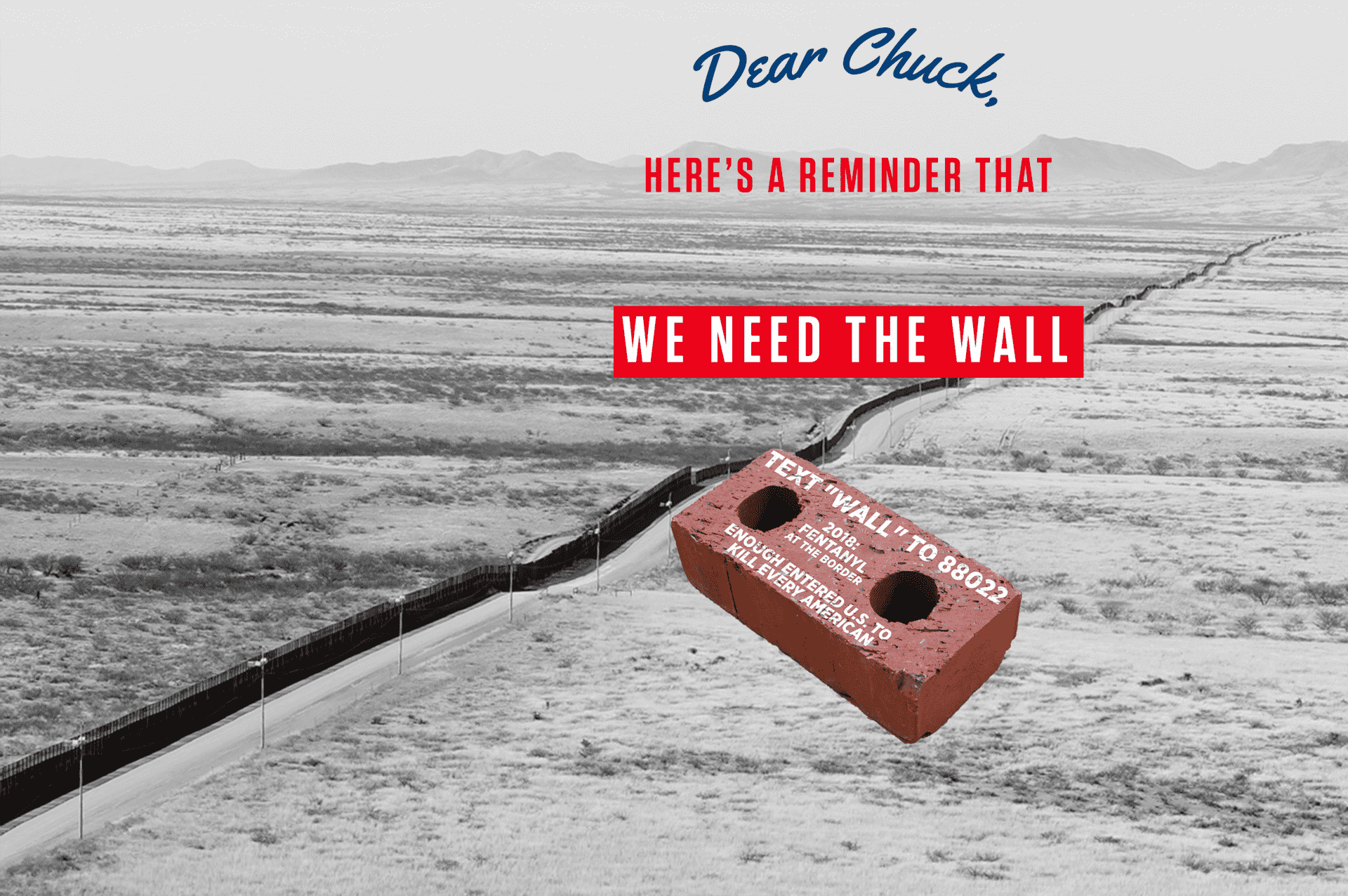We need the wall dear chuck revv